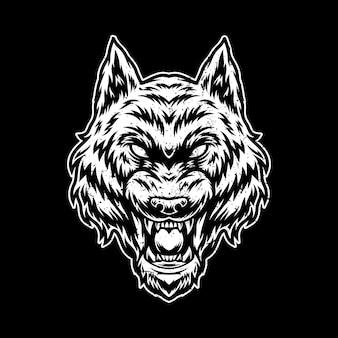 늑대 삽화 그림