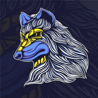 Wolf artwork illustration