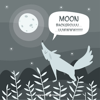 Wolf background howling at the moon