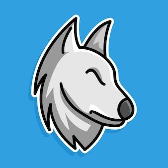 オオカミの漫画のデザイン