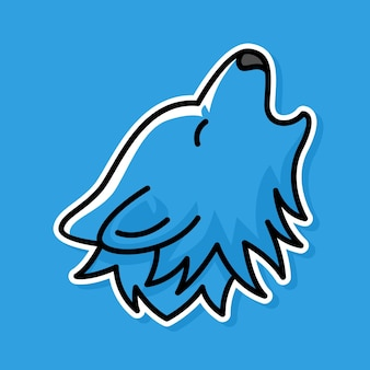 늑대 만화 디자인