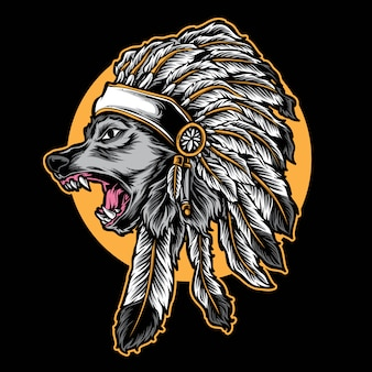 Wolf chief vector