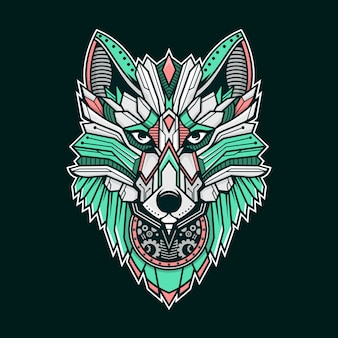 Wolf colorful illustration