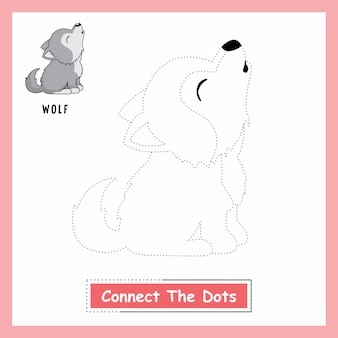 Wolf connect the dots worksheet wild dog