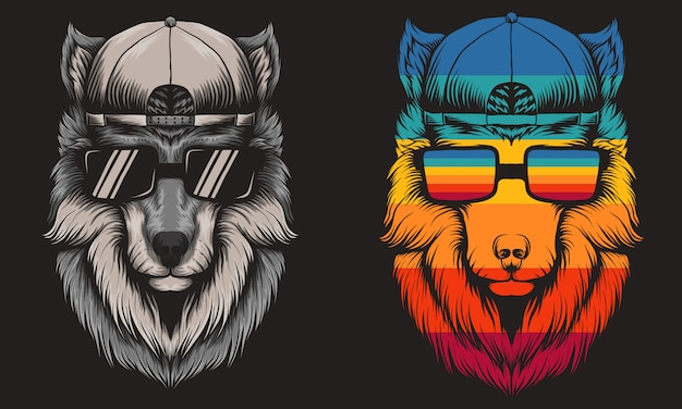 Wolf cool retro