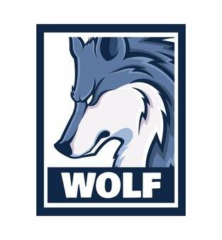 Wolf design frame illustration isolated