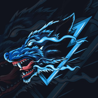Волк киберспорт логотип или талисман.