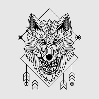 Wolf in geometric style