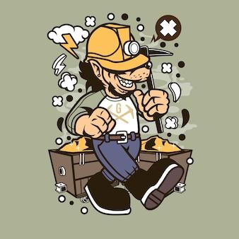 Wolf gold miner