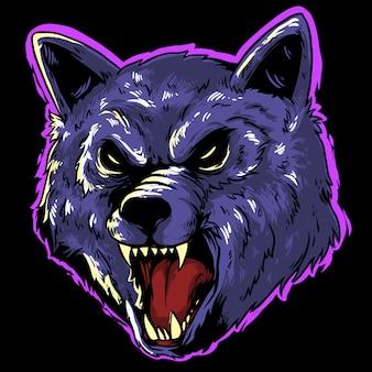 Wolf halloween  design