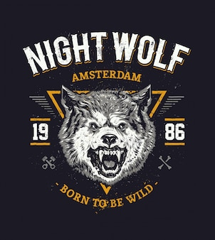 Wolf head art