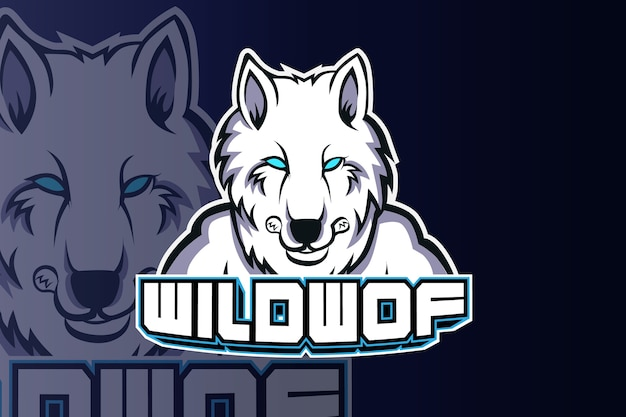Wolf head esport logo team template