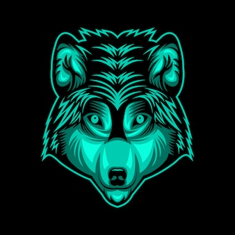 Wolf head face vector design illustration