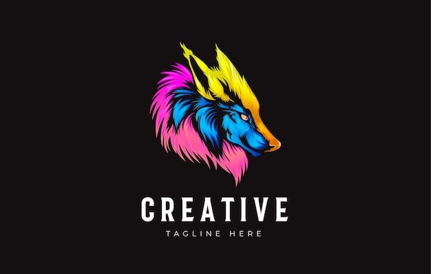 Wolf head gradient vector illustration