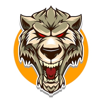 Wolf head  illustration isolated