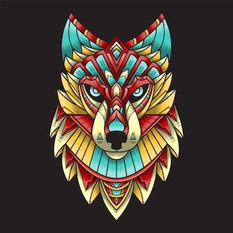Иллюстрация головы волка