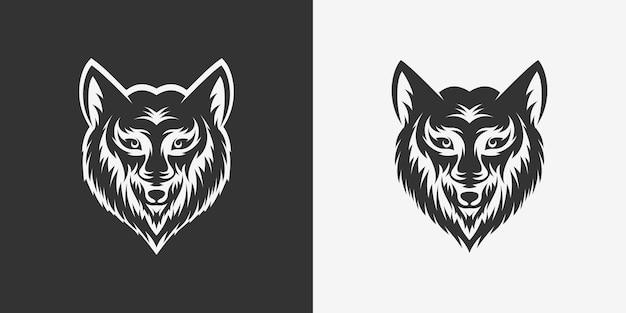 オオカミの頭のロゴデザイン