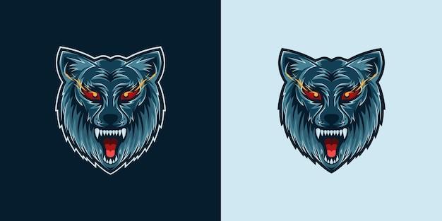 オオカミの頭のロゴ