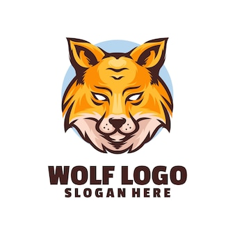 Логотип головы волка