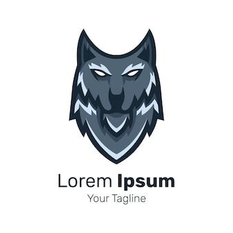 Wolf head mascot logo design vector