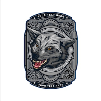 Wolf head vintage logo