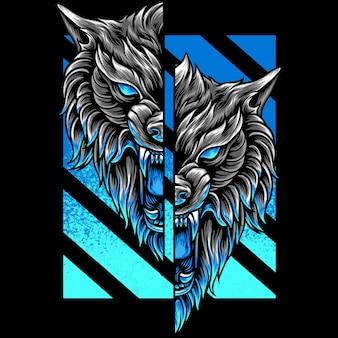 Wolf head