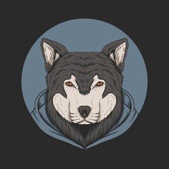Wolf hoodie illustration