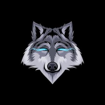 늑대 일러스트 디자인 벡터 프리미엄 벡터