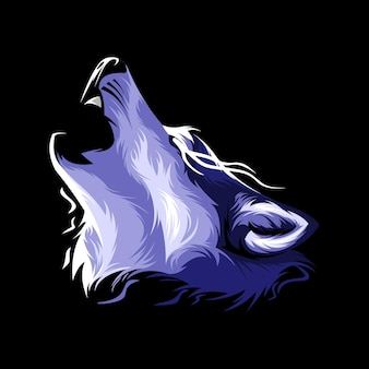 Волк иллюстрации дизайн вектор