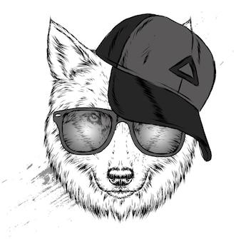 모자에 늑대