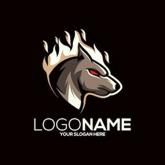 オオカミのロゴのデザイン
