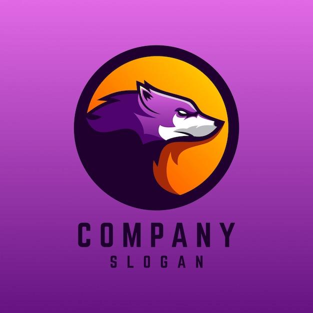 늑대 로고 디자인