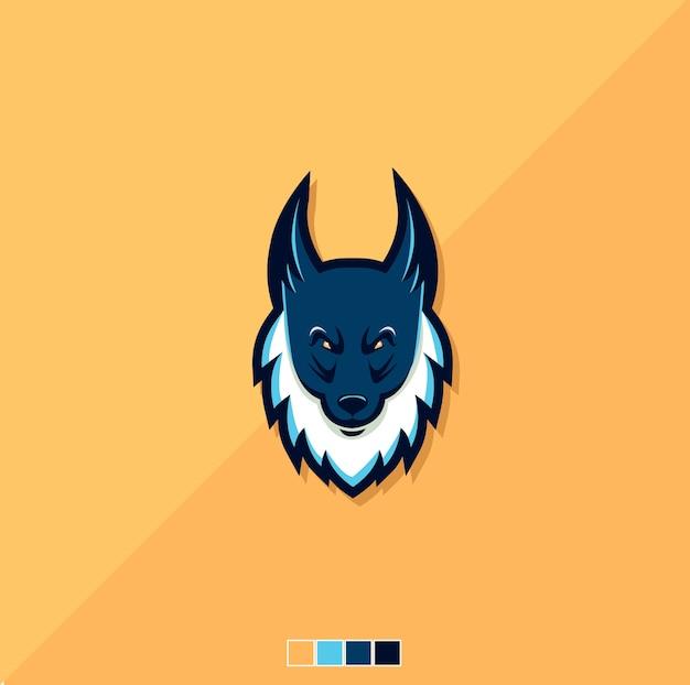 オオカミのロゴのマスコット