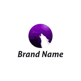 Шаблон логотипа волка
