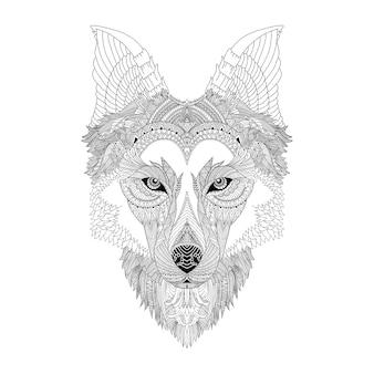 Wolf mandala art