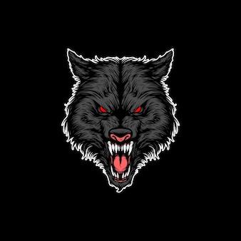 Wolf mascot design