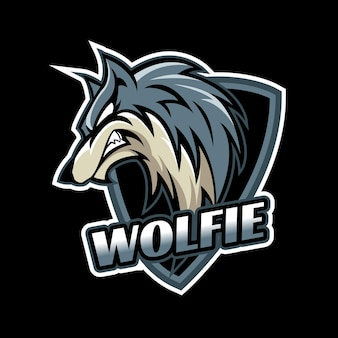 Логотип талисмана волка