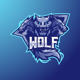 Wolf mascot logo design esport team