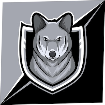 Wolf mascot for sports and esports logo