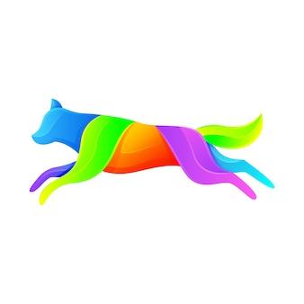 Wolf modern logo illustration  template