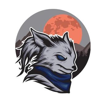 Волк луна иллюстрация