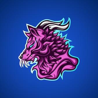 Волк хищников игровой талисман логотип