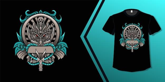 Wolf skull design tshirt culture
