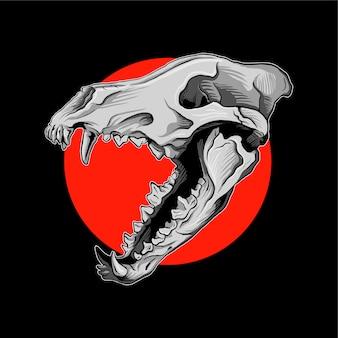 Вектор черепа волков
