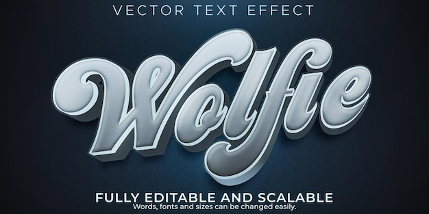 Wolf text effect, editable wild and hunter text style