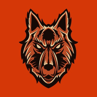 Wolf vector emblem illustration