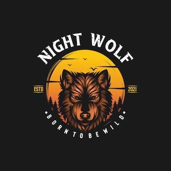 オオカミのベクトル図
