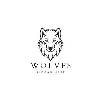 Wolf vintage logo stock