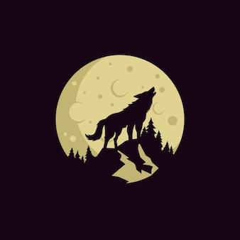 Wolf vintage logoストックベクトル