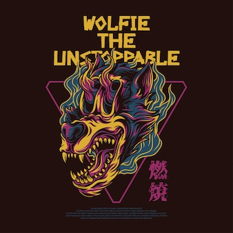 Wolfie the unstoppable illustration